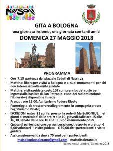Aperte a tutti  le iscrizioni per la gita a Bologna con i VOLONTARI di MAISOLI onlus