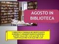 AGOSTO IN BIBLIOTECA