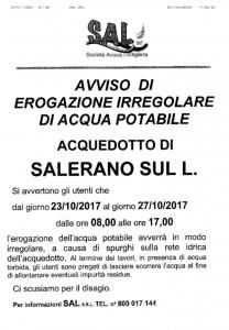 AVVISO EROGAZIONE IRREGOLARE OTTOBRE 2017