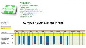 Calendario 2018 del taglio dell'erba negli spazi verdi comunali