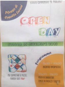Open day Scuola Media Salerano/Caselle/Casaletto