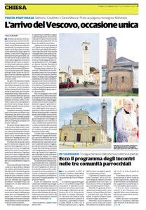 """LA VISITA DEL VESCOVO  A SALERANO SULLE PAGINE DE """"IL CITTADINO"""""""
