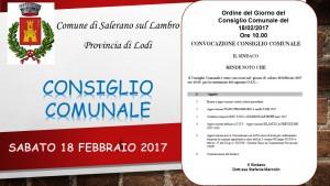 FOTO CONSIGLIO COMUNALE 18 FEBBRAIO 2017