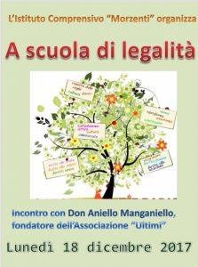 """""""A scuola di legalità"""" -Don Aniello Manganiello incontra i ragazzi della nostra scuola media Salerano-Caselle-Casaletto"""