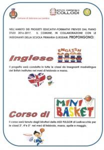 INGLESE E BASKET
