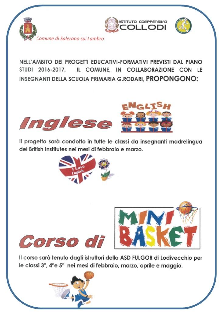 Inglese E Minibasket A Scuola