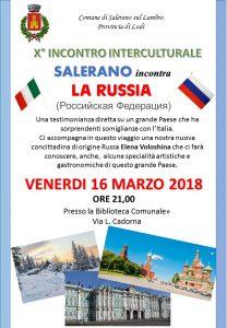 X° Incontro interculturale Salerano incontra la Russia
