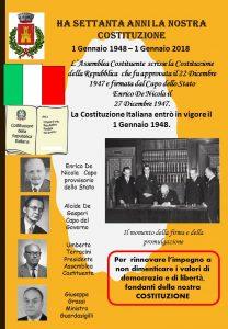 LA COSTITUZIONE COMPIE 70 ANNI - AUGURI ITALIA