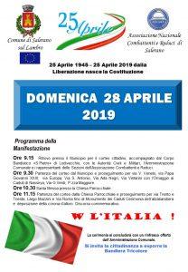 DOMENICA 28 APRILE 2019 - SI RICORDA LA LIBERAZIONE