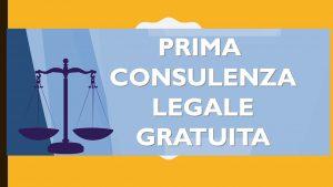 """SPORTELLO GRATUITO DI """"PRIMA CONSULENZA LEGALE"""""""