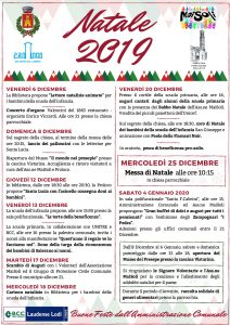 Programma festività 2019