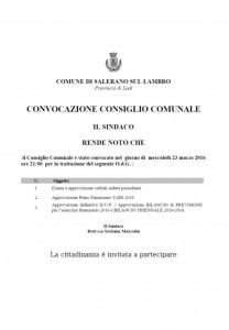 ORDINE DEL GIORNO CONSIGLIO COMUNALE