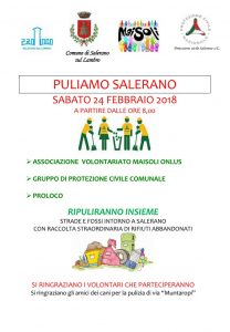 PULIAMO Salerano -edizione 2018