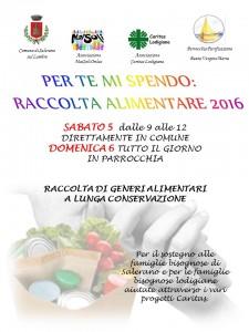 RACCOLTA ALIMENTARE 2016