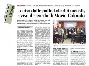 RICORDO MARIO COLOMBI ART CITTADINO