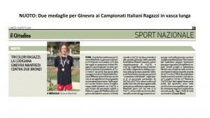 articolo CITTADINO CAMPIONATI ITALIANI