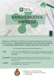 BANDO NUOVA IMPRESA - Regione Lombardia