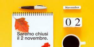 Avviso- 2 novembre chiusura PIAZZOLA ecologica e UFFICI comunali