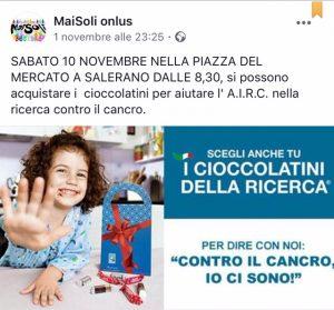 MaiSoli onlus propone: I cioccolatini delle ricerca
