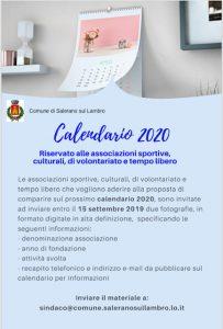 EcoCALENDARIO 2020 dedicato alle Associazioni