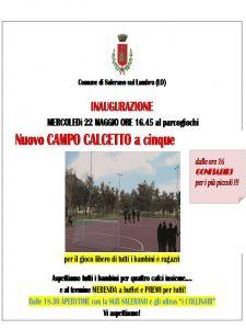 Inauguriamo il nuovo CAMPO CALCETTO