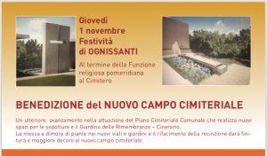 Benedizione nuovo campo cimiteriale