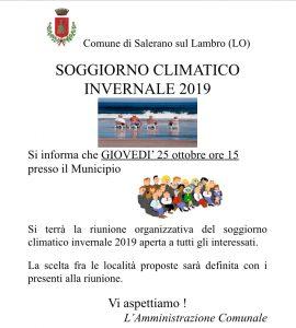 Soggiorno climatico invernale 2019-RIUNIONE