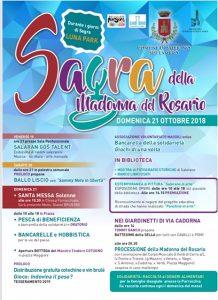"SAGRA ""Madonna del Rosario"" 2018 - Domenica 21 Ottobre 2018"