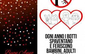 NO all'abuso dei BOTTI di Capodanno - Raccomandazione