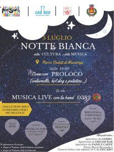 venerdì 5 luglio NOTTE BIANCA della cultura e della musica