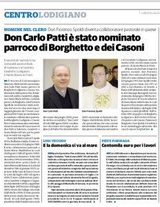 don Carlo PATTI nuovo Parroco di Borghetto