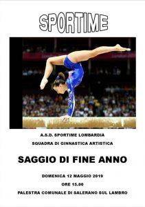 Saggio di ginnastica artistica domenica 12 maggio